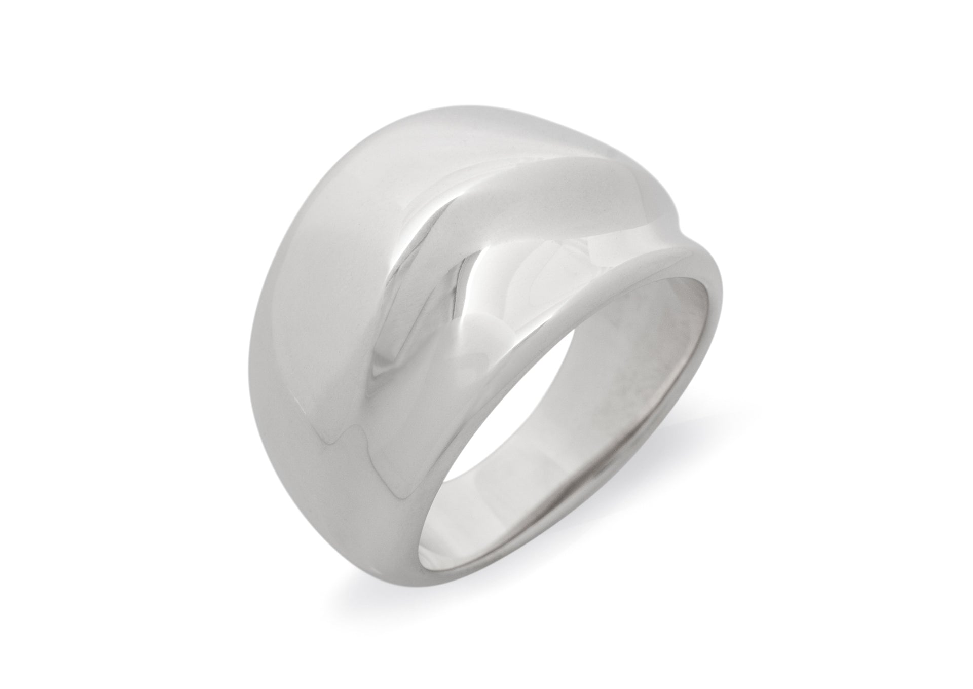 Medium Domed Wave Ring, All Metals