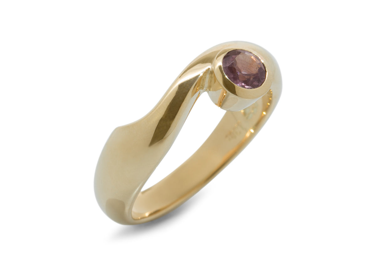 Delicate Gemstone Ring, Yellow Gold
