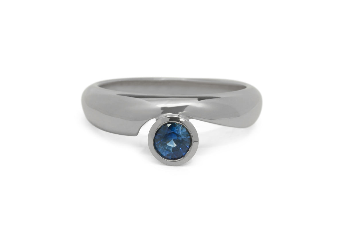 Dainty Gemstone Ring, Sterling Silver