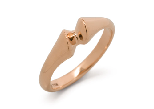 Geometric Dress Ring, Red Gold