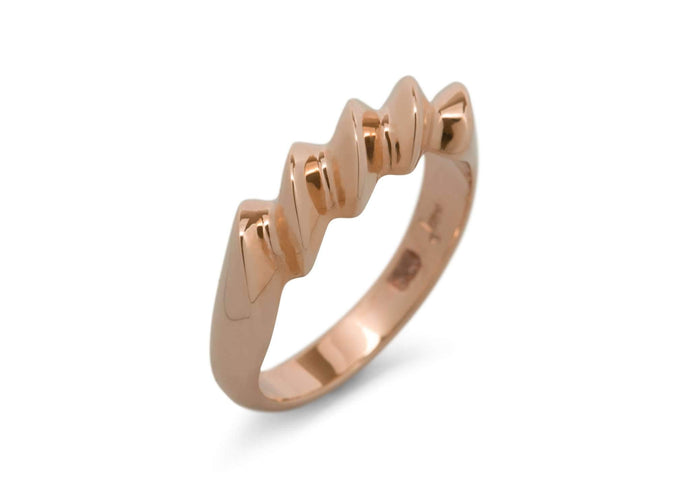 Twist Ring, Red Gold