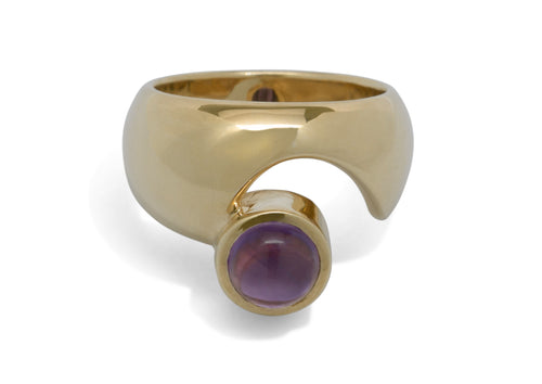 Wondrous Cabochon Gemstone Ring, Yellow Gold