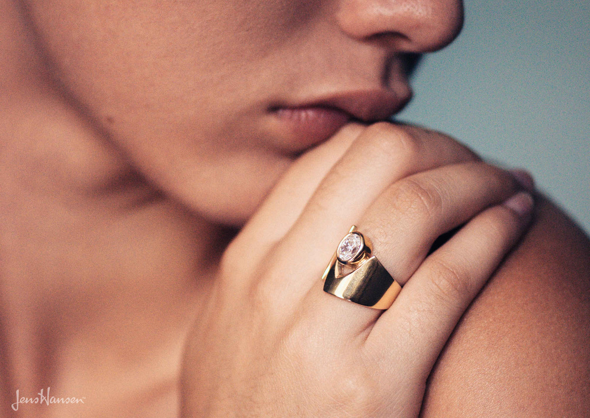 Signature Gemstone Ring, Yellow Gold