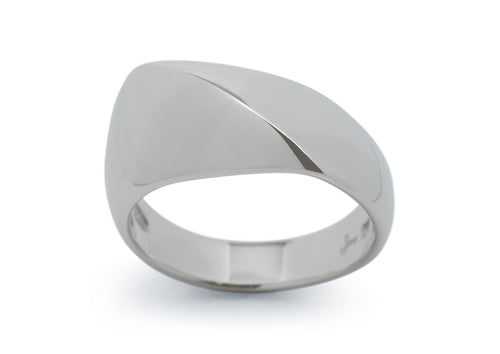 Diagonal Dome Ring, Sterling Silver