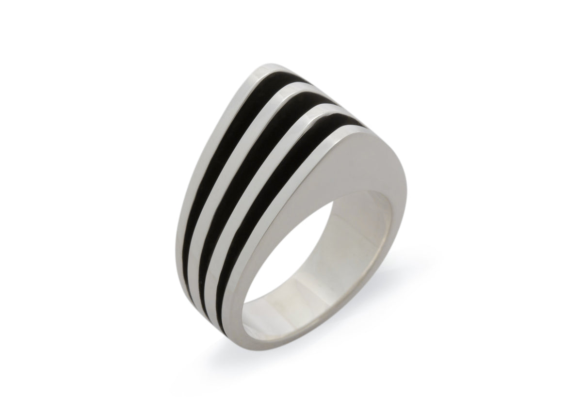 "Original ""Sydney Fin"" Ring, Sterling Silver"