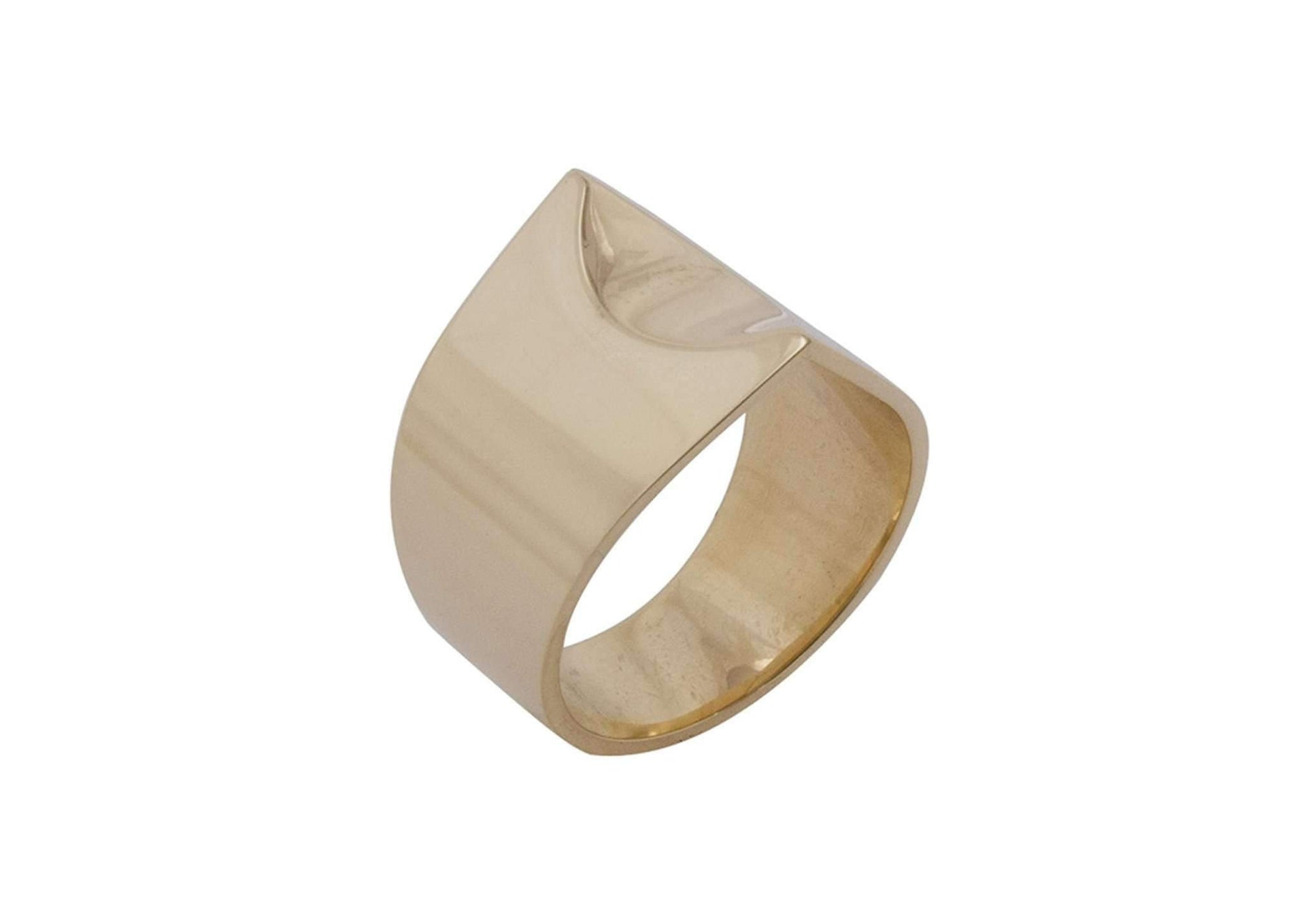 Twin Peak Ring, Yellow Gold