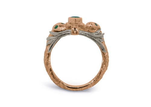 Our Ring for Viggo, Red & White Gold