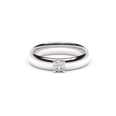 4mm Stone Contemporary Elvish Engagement Ring, White Gold, Platinum & Palladium, Unengraved   - Jens Hansen