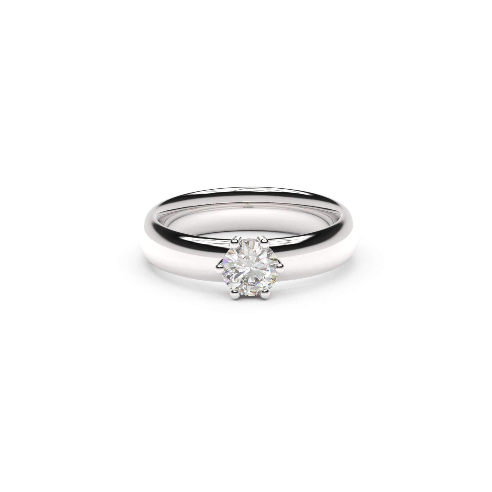 5mm Stone Classic Elvish Engagement Ring, White Gold, Platinum & Palladium, Unengraved   - Jens Hansen
