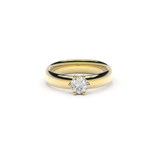 5mm Stone Classic Elvish Engagement Ring, Unengraved, Yellow Gold   - Jens Hansen