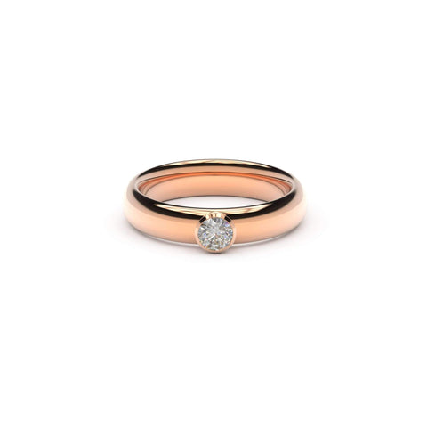4mm Stone Elegant Elvish Engagement Ring, Red Gold, Unengraved   - Jens Hansen