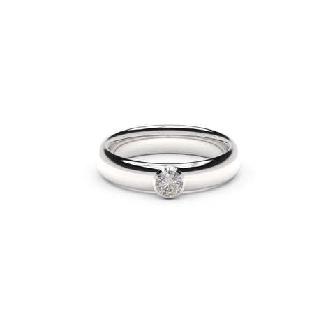 4mm Stone Elegant Elvish Engagement Ring, White Gold, Platinum & Palladium, Unengraved   - Jens Hansen