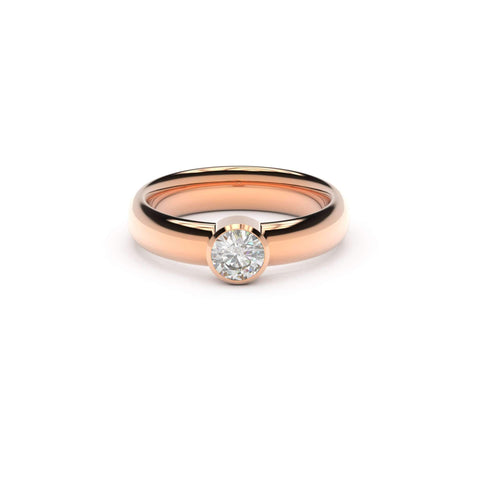 5mm Stone Modern Elvish Engagement Ring, Red Gold, Unengraved  - Jens Hansen