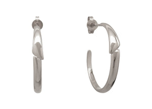 Asymmetric Earrings, White Gold & Platinum