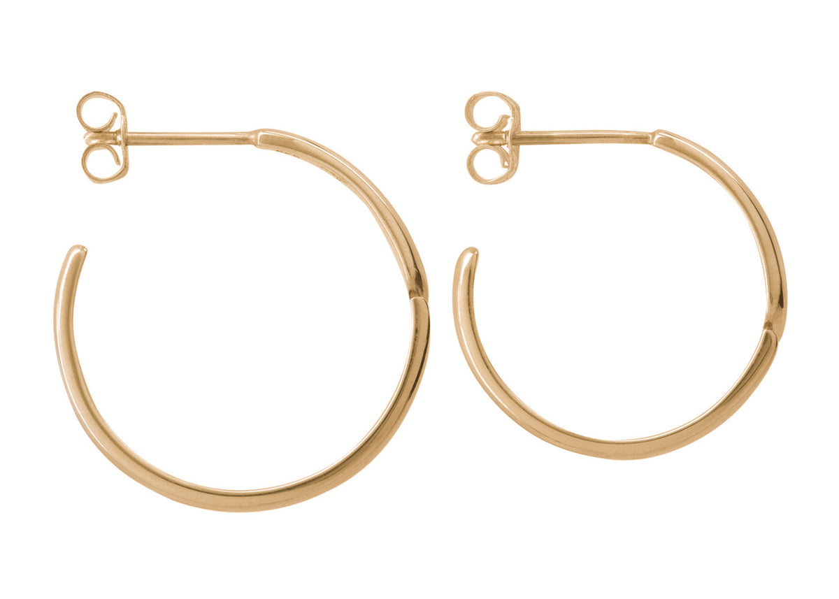 Asymmetric Earrings, Yellow Gold
