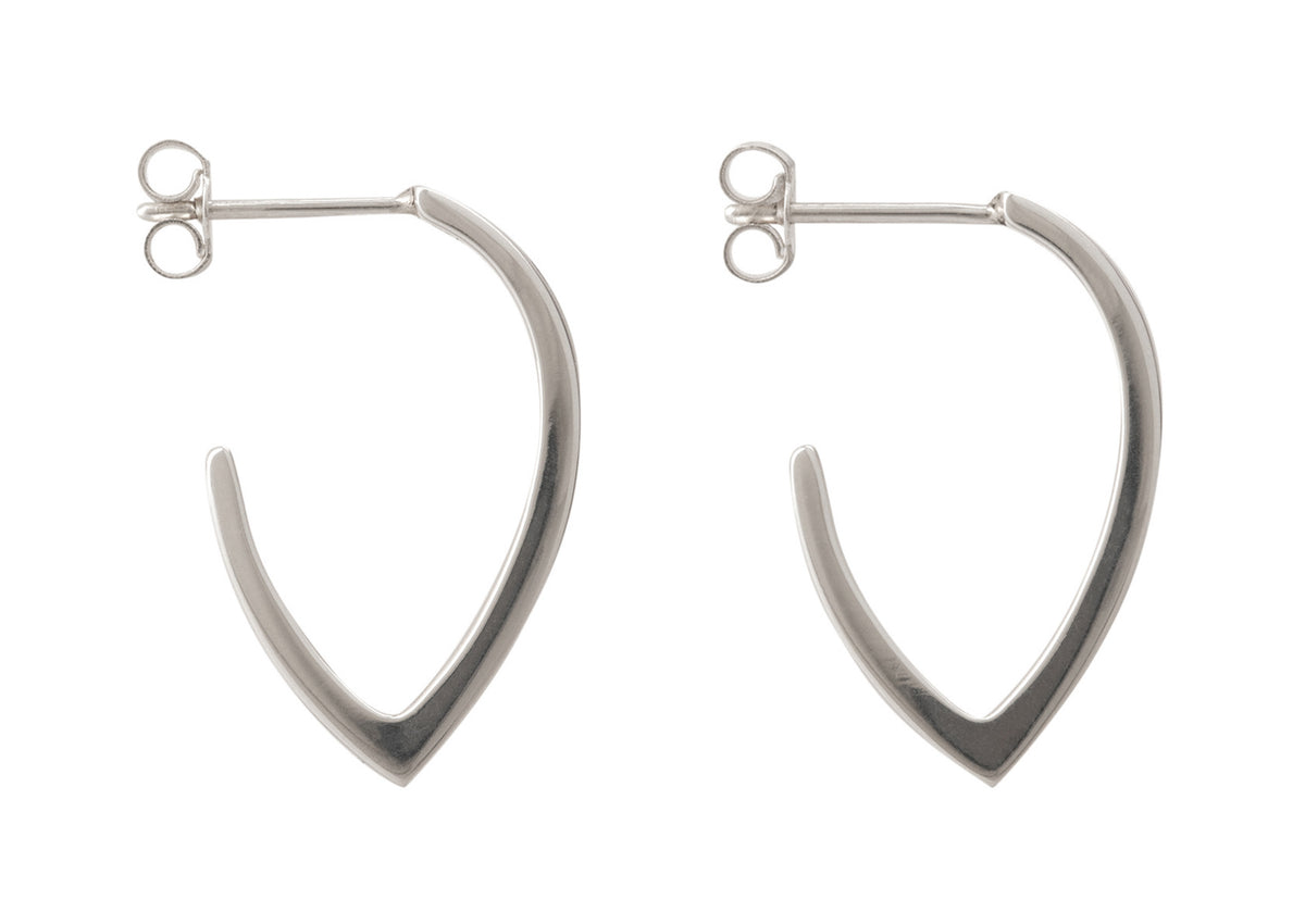 """Sydney Fin"" Earrings, Sterling Silver"