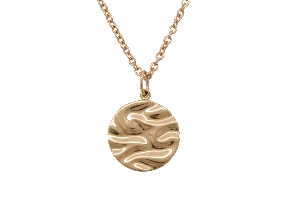 Silk Wave Pendant, Yellow Gold
