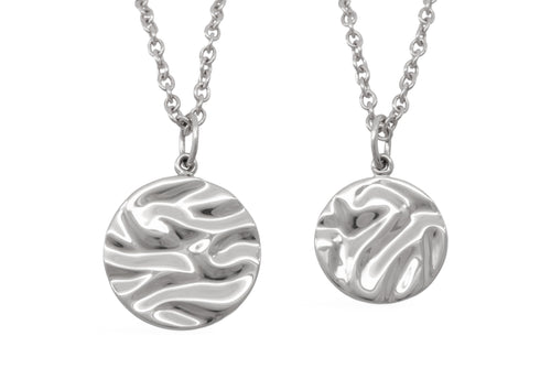 Silk Wave Pendant, Sterling Silver