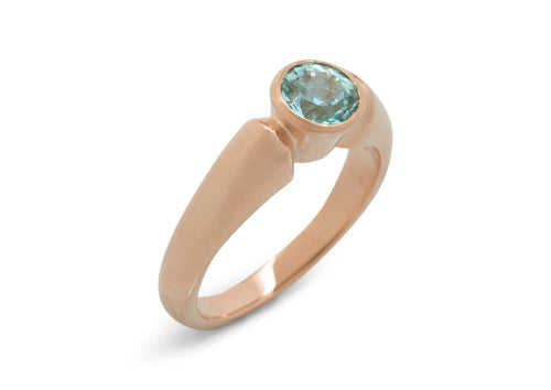 Timeless Gemstone Ring, Red Gold