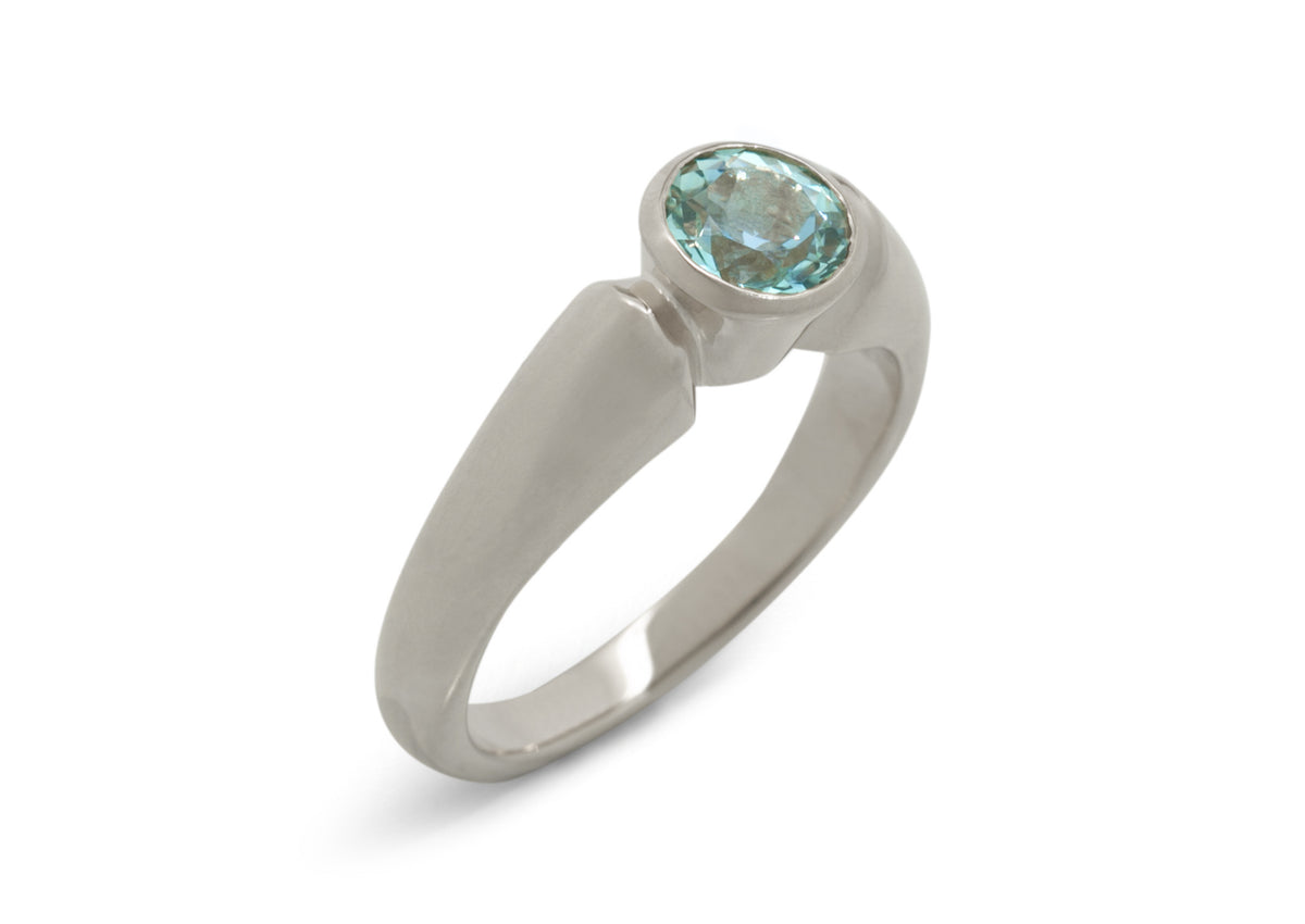 Timeless Gemstone Ring, White Gold & Platinum