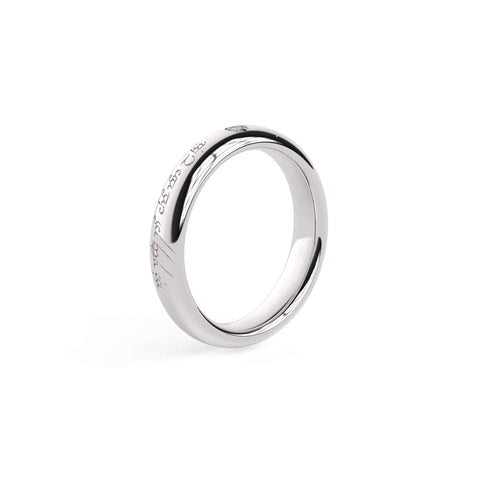 2.5mm Stone Sleek Elvish Engagement Ring, White Gold, Platinum & Palladium   - Jens Hansen