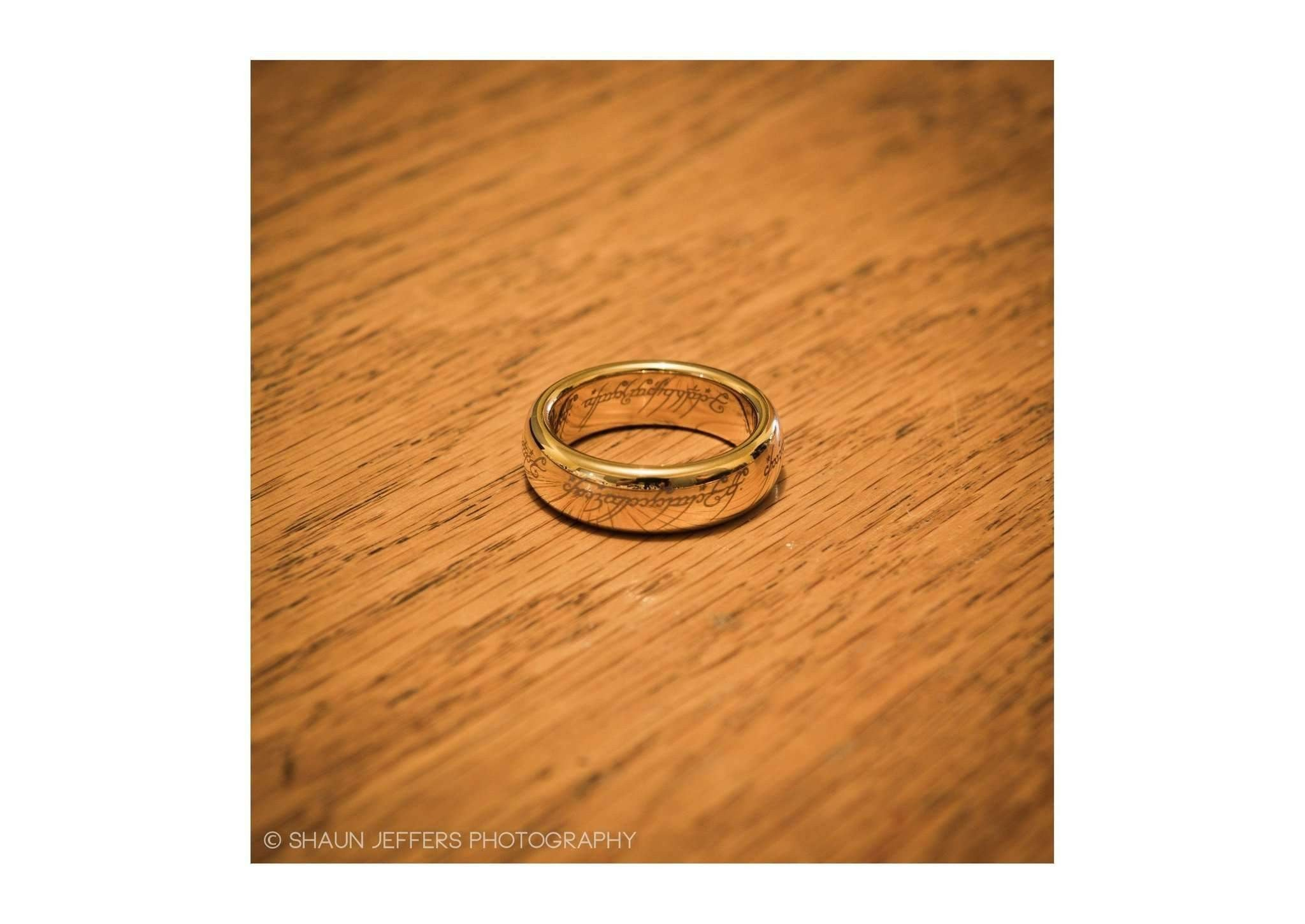 the lord of the rings the one ring gold plated tungsten carbide