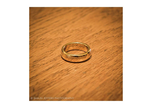 The Lord of the Rings: The One Ring: Gold Plated Tungsten Carbide (with Elvish runes)   - Jens Hansen - 5