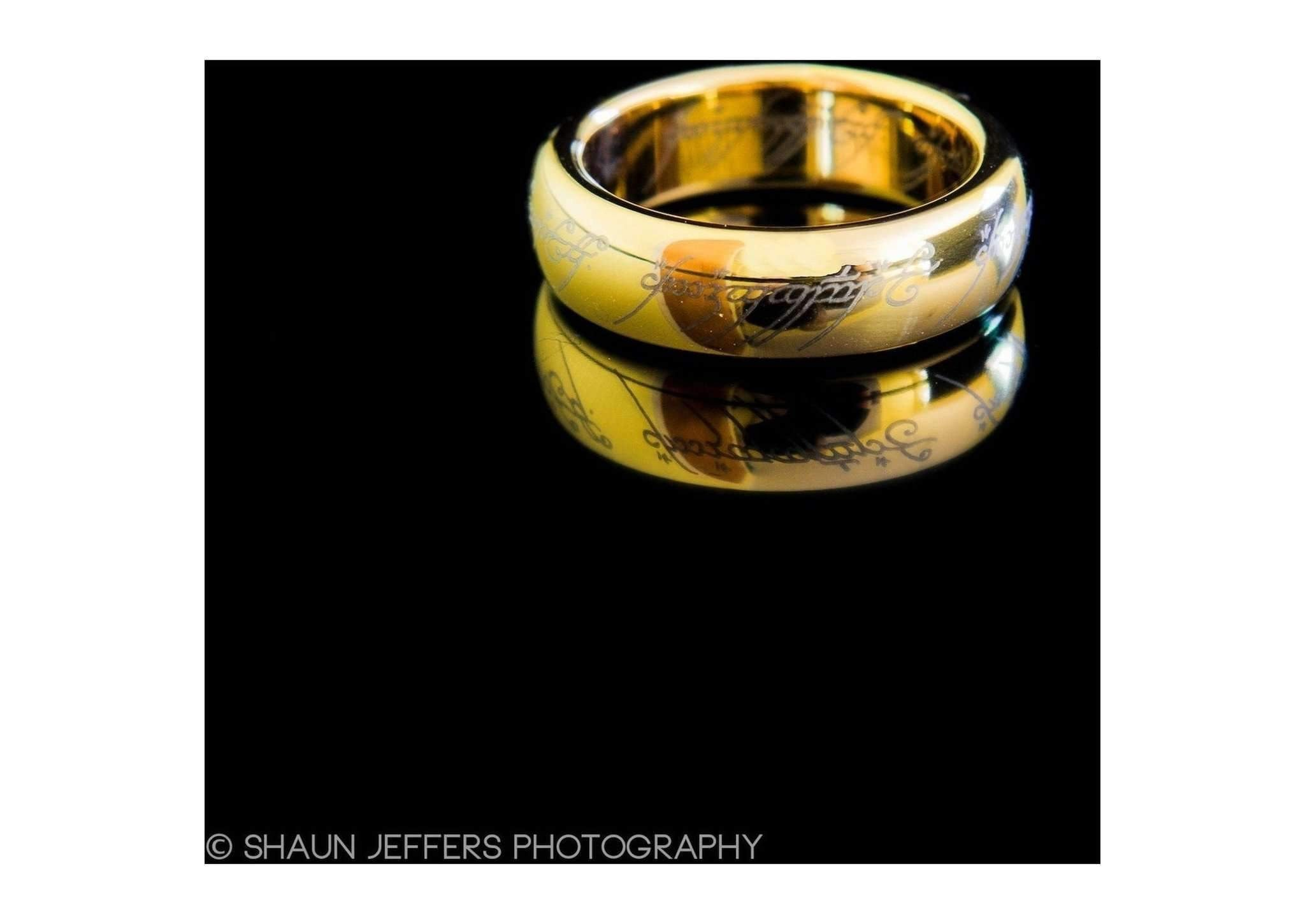 The Lord of the Rings: The One Ring: Gold Plated Tungsten Carbide ...