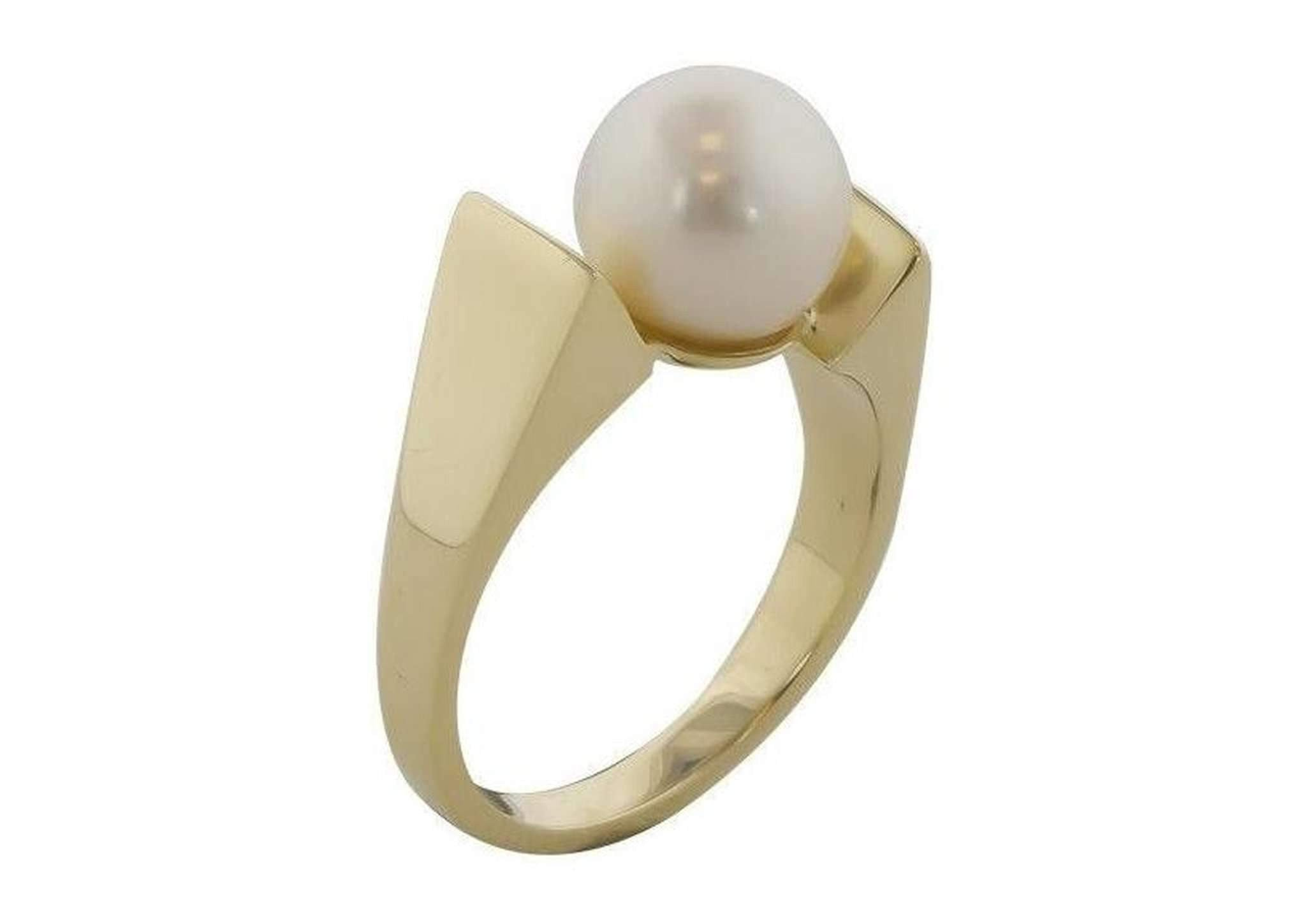 Freshwater Pearl Unique Style Ring Stackable Mother of Pearl
