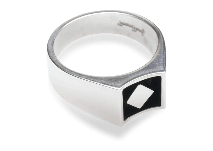 2008 Foundation Release Sterling Silver Oxidised Cut Away Ring   - Jens Hansen - 1