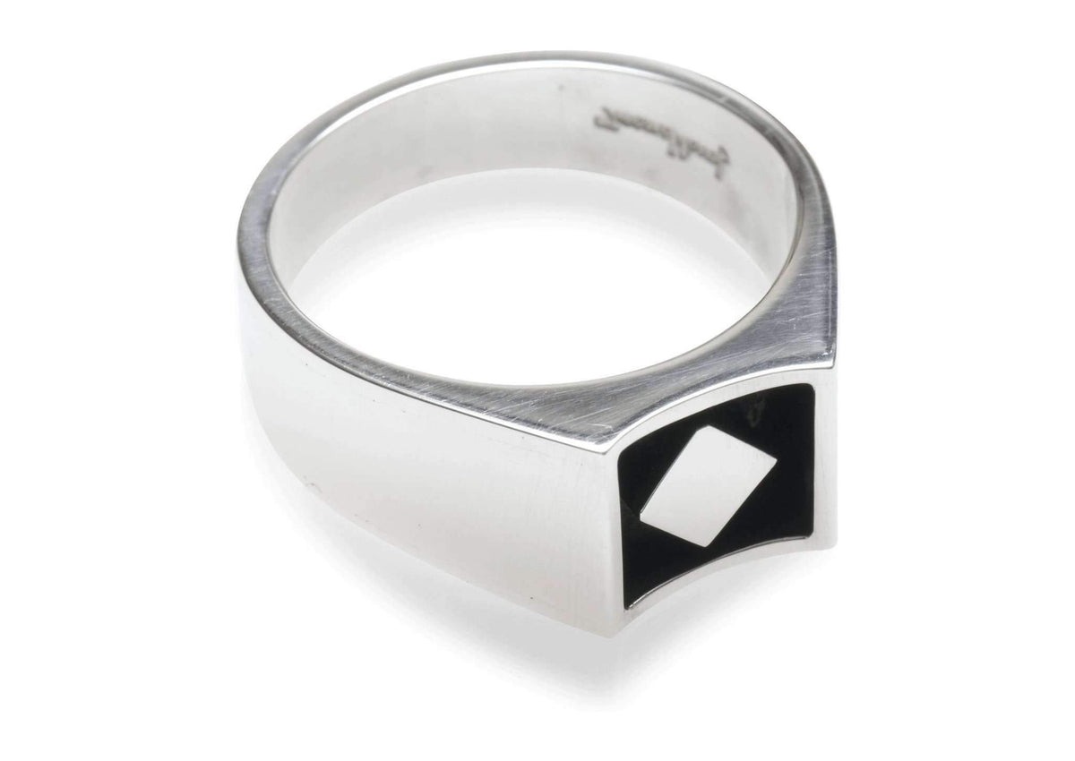 2008 Foundation Release Sterling Silver Oxidised Cut Away Ring