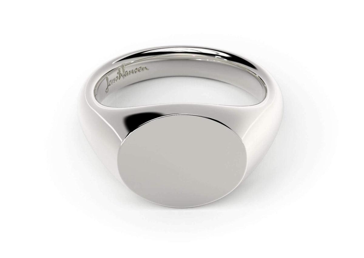 Landscape Signet Ring, White Gold, Platinum & Palladium