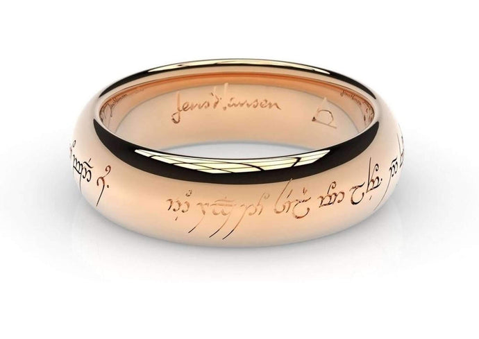 Little Elvish Love Ring Red Gold   - Jens Hansen