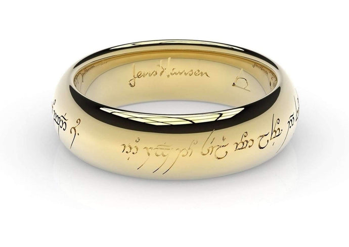 Little Elvish Love Ring Yellow Gold   - Jens Hansen