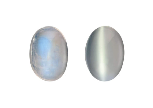 Rainbow Moonstone (left) & White Moonstone (right)