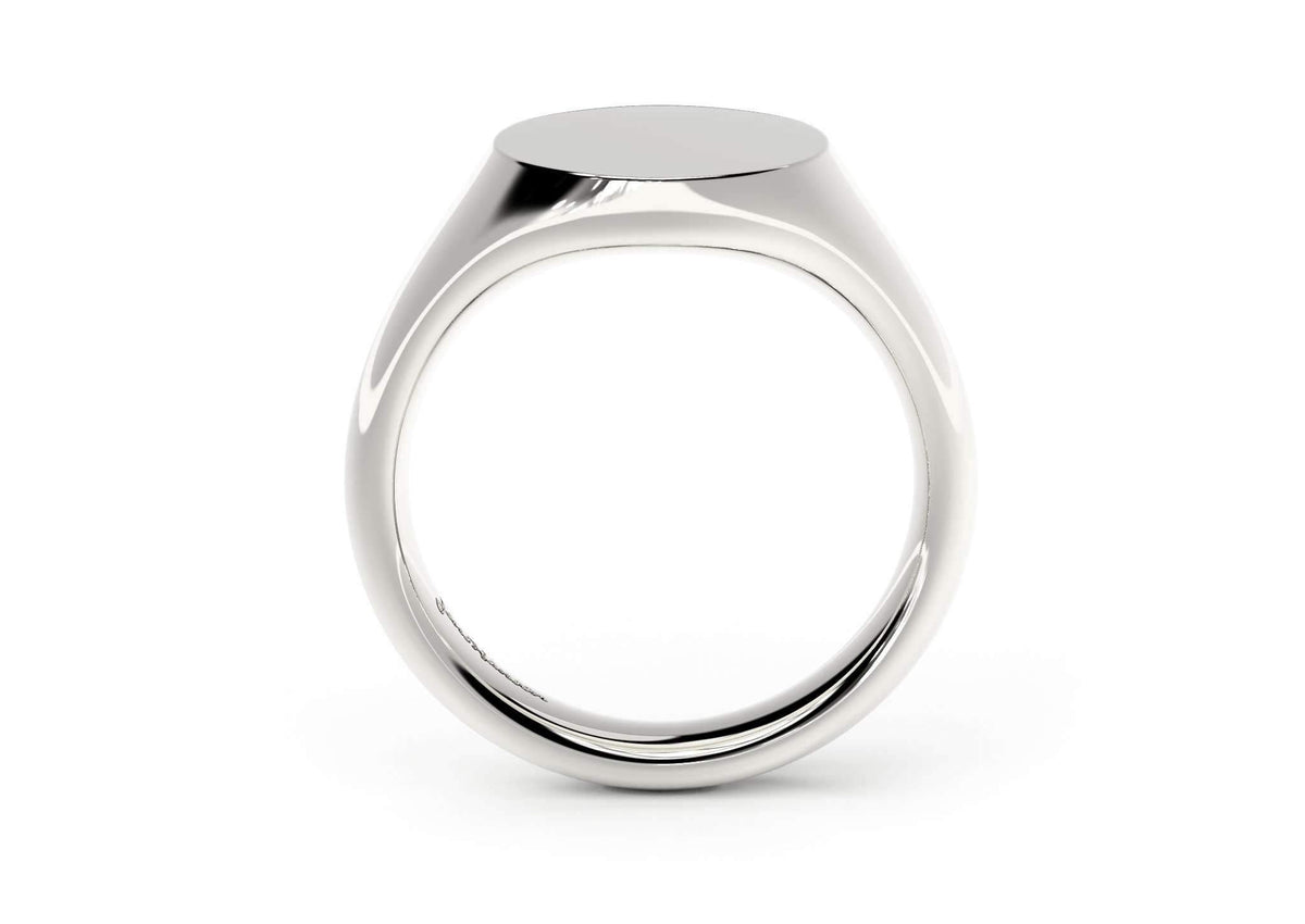 Oval Signet Ring, White Gold, Platinum & Palladium