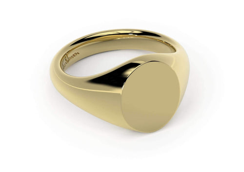 Oval Signet Ring, Yellow Gold