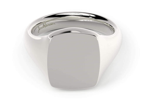 Quadrant Signet Ring, White Gold, Platinum & Palladium