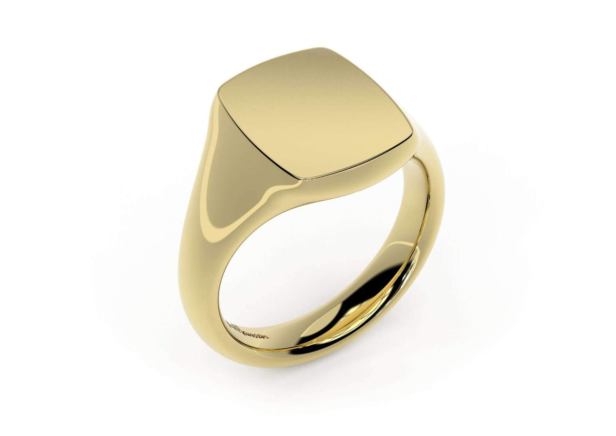 Quadrant Signet Ring, Yellow Gold