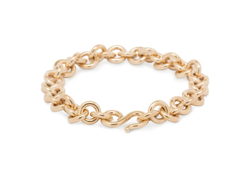 Round Link Bracelet, Yellow Gold