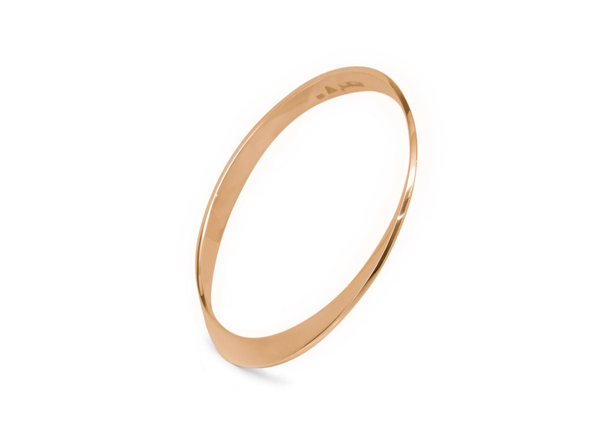 Möbius Twist Bangle, Red Gold