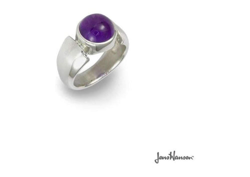 Silver Ring with Amethyst   - Jens Hansen