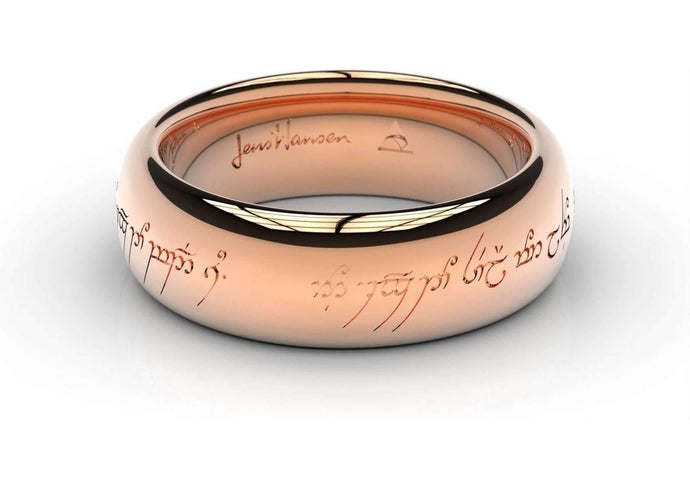 Elvish Love Ring Red Gold   - Jens Hansen