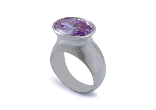 Bold Gemstone Dress Ring, Sterling Silver