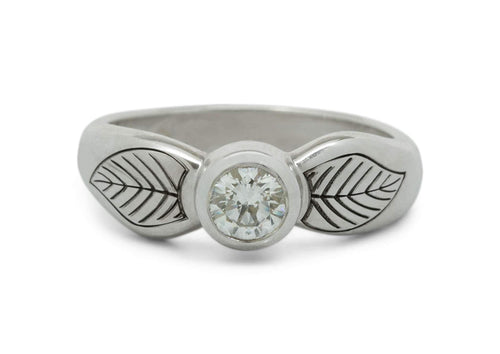 Engraved Elven Ring, Sterling Silver
