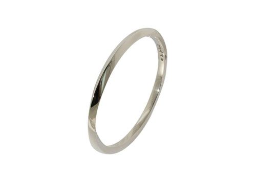 Square Möbius Twist Bangle, Sterling Silver
