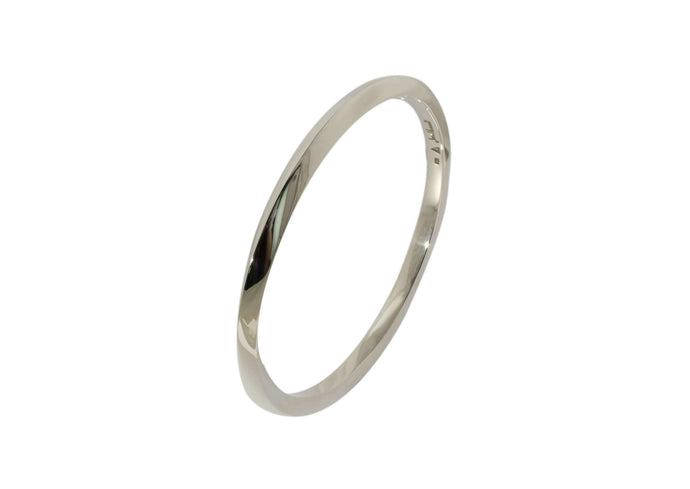 Square Mobius Twist Bangle, Sterling Silver