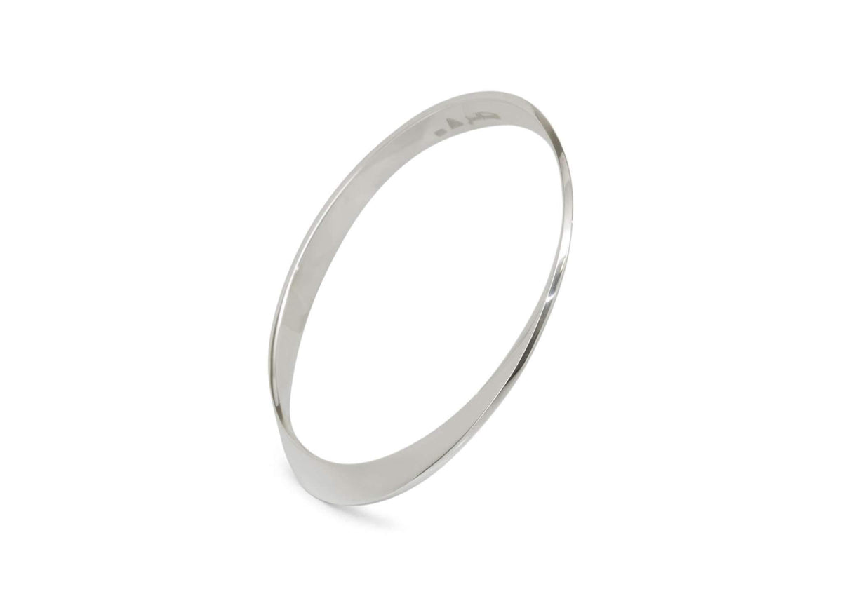 Mobius Twist Bangle, Sterling Silver