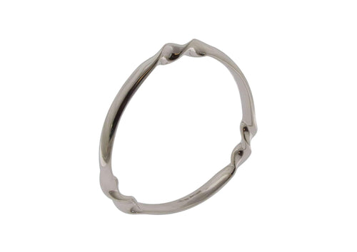 Tri Twist Bangle, Sterling Silver