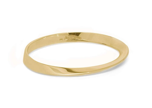 Möbius Twist Bangle, Yellow Gold